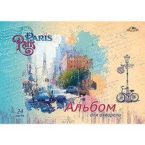 Альбом для акварели Апплика Париж, 24 листа