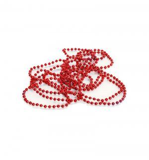 Новогоднее украшение  Бусы-шарики красные 270 см Яркий Праздник