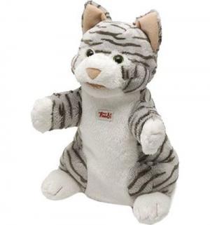 Мягкая игрушка на руку  Кошка полосатая Trudi