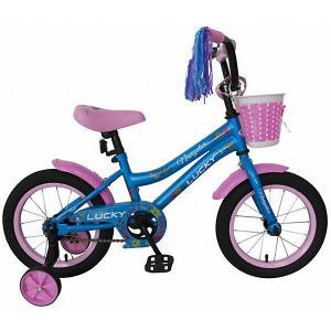 Двухколесный велосипед  Lucky 14 Navigator. Цвет: разноцветный