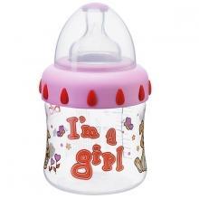 Бутылочка  Little stars полипропилен, 150 мл, цвет: розовая Bibi