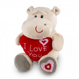 Мягкая игрушка  Бегемот Боня с сердцем 30 см Maxitoys