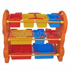 Стеллаж для игрушек с ящиками QiaoQiao