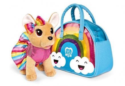 Мягкая игрушка  Плюшевая собачка на радуге 20 см Chi-Chi Love
