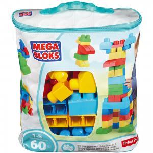 Конструктор Mega Blocks First Builders, 60 деталей, голубой BLOKS