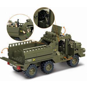 Конструктор  Армия: грузовик с солдатами, 230 детали Sluban