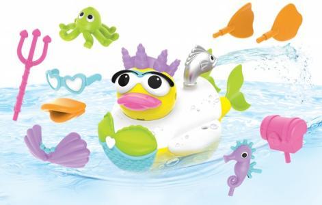 Игрушка водная Утка-русалка с водометом и аксессуарами Yookidoo