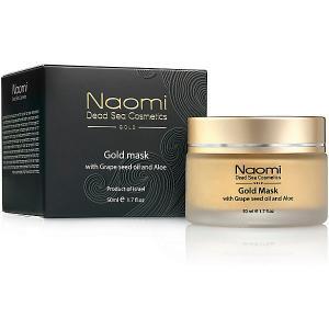 Золотая маска для лица  с маслом косточек винограда и алоэ, 50 мл Naomi
