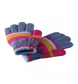 Перчатки, цвет: синий/розовый Reima