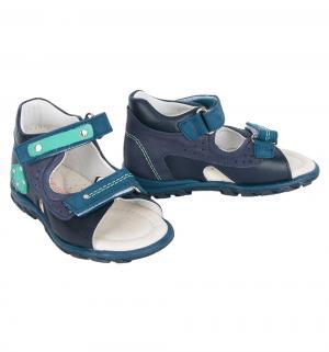 Сандалии , цвет: синий Dandino