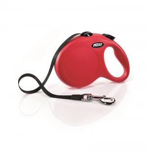 Рулетка ленточная New Classic L (до 50 кг), 5м, цвет: красный Flexi