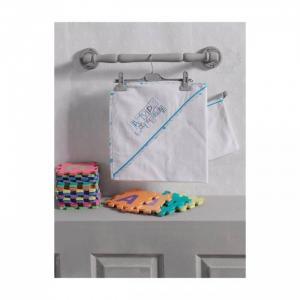 Комплект полотенце-уголок + варежка Happy Birthday Kidboo