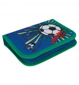 Пенал на молнии  Футбол цвет: синий 13.5х20.5х3 см Gulliver