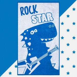 Полотенце махровое Rock star 130х70 Этель