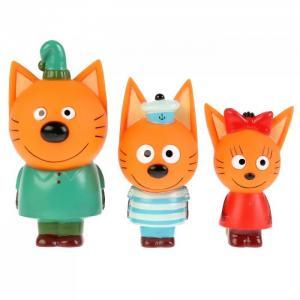 Набор из 3-х игрушек для ванны Три Кота: Компот, Коржик, Карамелька Капитошка