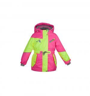 Куртка  Кира, цвет: желтый/розовый Oldos