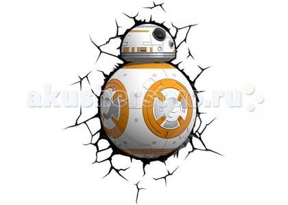 Светильник  Пробивной 3D StarWars (Звёздные Войны) Дроид BB-8 3DlightFX