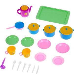 Игровой набор посуды  Обед Пластмастер