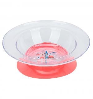 Тарелка  Любимая с присоской, цвет: красный Lubby