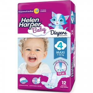 Подгузники Maxi  7-14 кг., 44 шт. Helen Harper Baby
