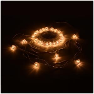 Электрогирлянда светодиодная Бриллианты 25 ламп 5 м Vegas