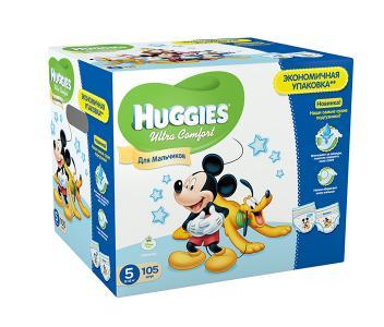 Подгузники Ultra Comfort DISNEY Box для мальчиков 5 (12-22 кг) 105 шт. Huggies