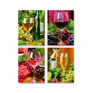 Картина по номерам  Вино 4 шт., 18х24 см Schipper. Цвет: разноцветный