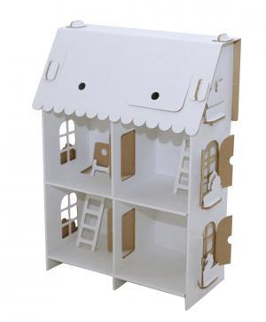 Кукольный дом Четыре комнаты Картонный папа