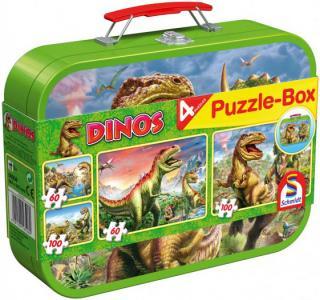Пазлы Динозавры 2x26 и 2x48 элементов Schmidt
