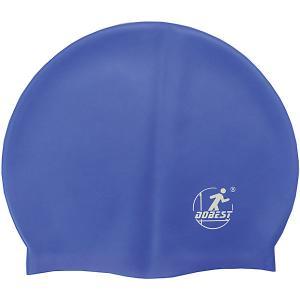 Силиконовая шапочка для плавания , темно-синяя Dobest