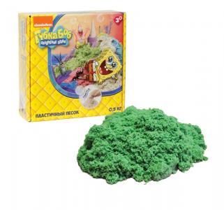 Кинетический песок  Губка Боб цвет: зелёный 0,5 кг Космический
