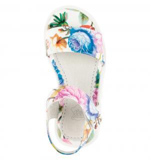 Босоножки , цвет: белый Прыг-Скок