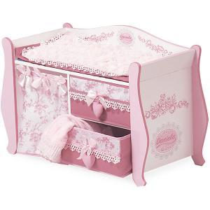 Пеленальный столик ,  серия Даниэла, 63 см DeCuevas. Цвет: розовый/белый