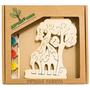 Развивающий пазл Жирафы и дерево Деревяшкино