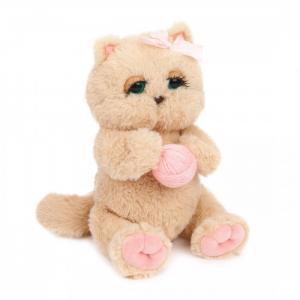 Мягкая игрушка  Киска Персик с клубком Angel Collection