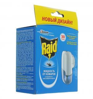 Фумигатор от комаров+жидкость на 30 ночей Raid