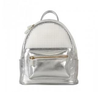 Рюкзак малый  Pocker Face Backpack WY-A020 серебро Upixel