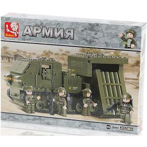Конструктор  Армия Самоходная установка с ракетным комплексом, 314 деталей Sluban