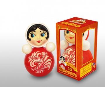 Развивающая игрушка  Неваляшка 3D 25 см Russia