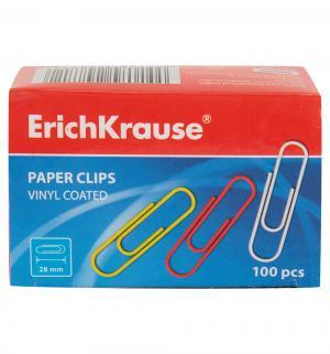 Скрепки цветные  28 мм Erich Krause