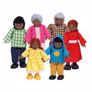 Набор мини-кукол Счастливая афроамериканская семья Hape