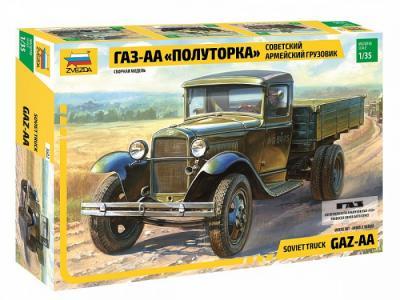 Сборная модель  Советский армейский грузовик ГАЗ-АА Полуторка Звезда