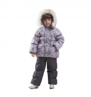 Комплект куртка/полукомбинезон , цвет: серый/фиолетовый Ursindo