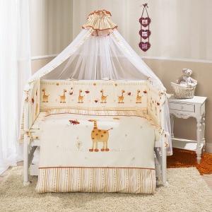 Комплект постельного белья  Кроха, цвет: бежевый 3 предмета Perina