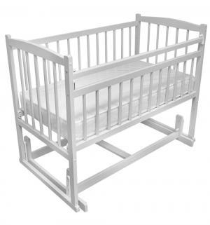 Кровать  Беби-4, цвет: белый Массив