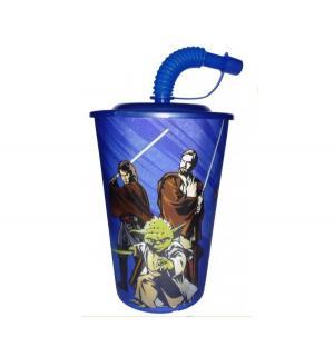Бокал с трубочкой, цвет: синий Star Wars