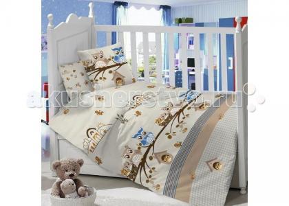 Комплект в кроватку  Совята (6 предметов) Idea Kids