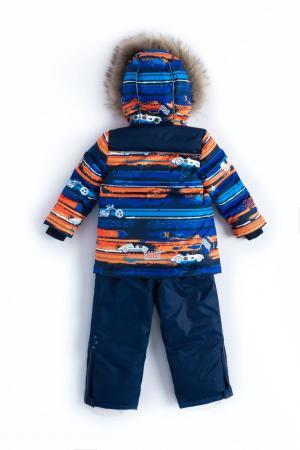 Комплект куртка/полукомбинезон  Harri, цвет: синий/оранжевый Nels
