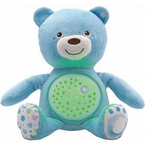Музыкальная игрушка-проектор Chicco Мишка, голубой. Цвет: синий