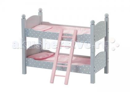 Деревянная двухъярусная кроватка Мир Принцесс для кукол Kids4kids